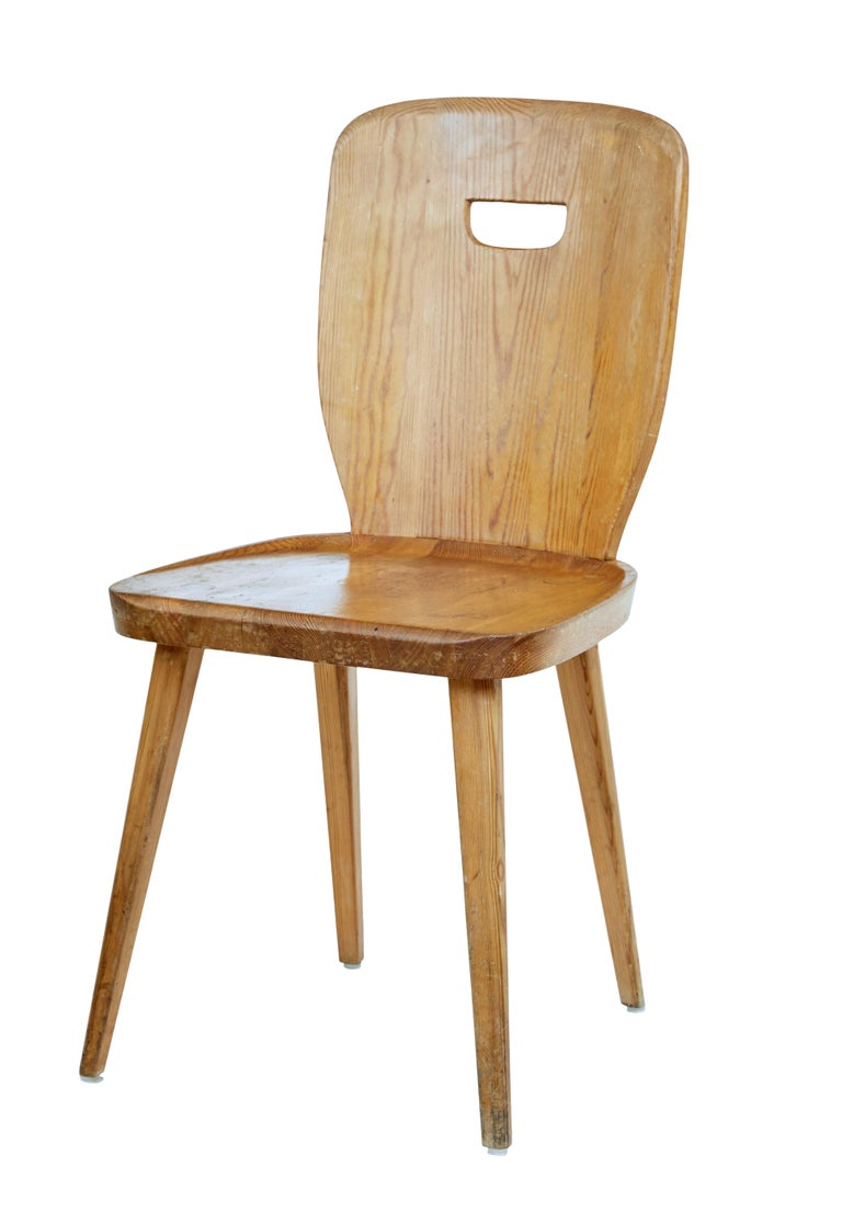 Set Of 8 Mid 20th Century Scandinavian Solid Pine Dining Chairs In 2020 Pine Dining Chairs Dining Chairs For Sale Dining Chairs