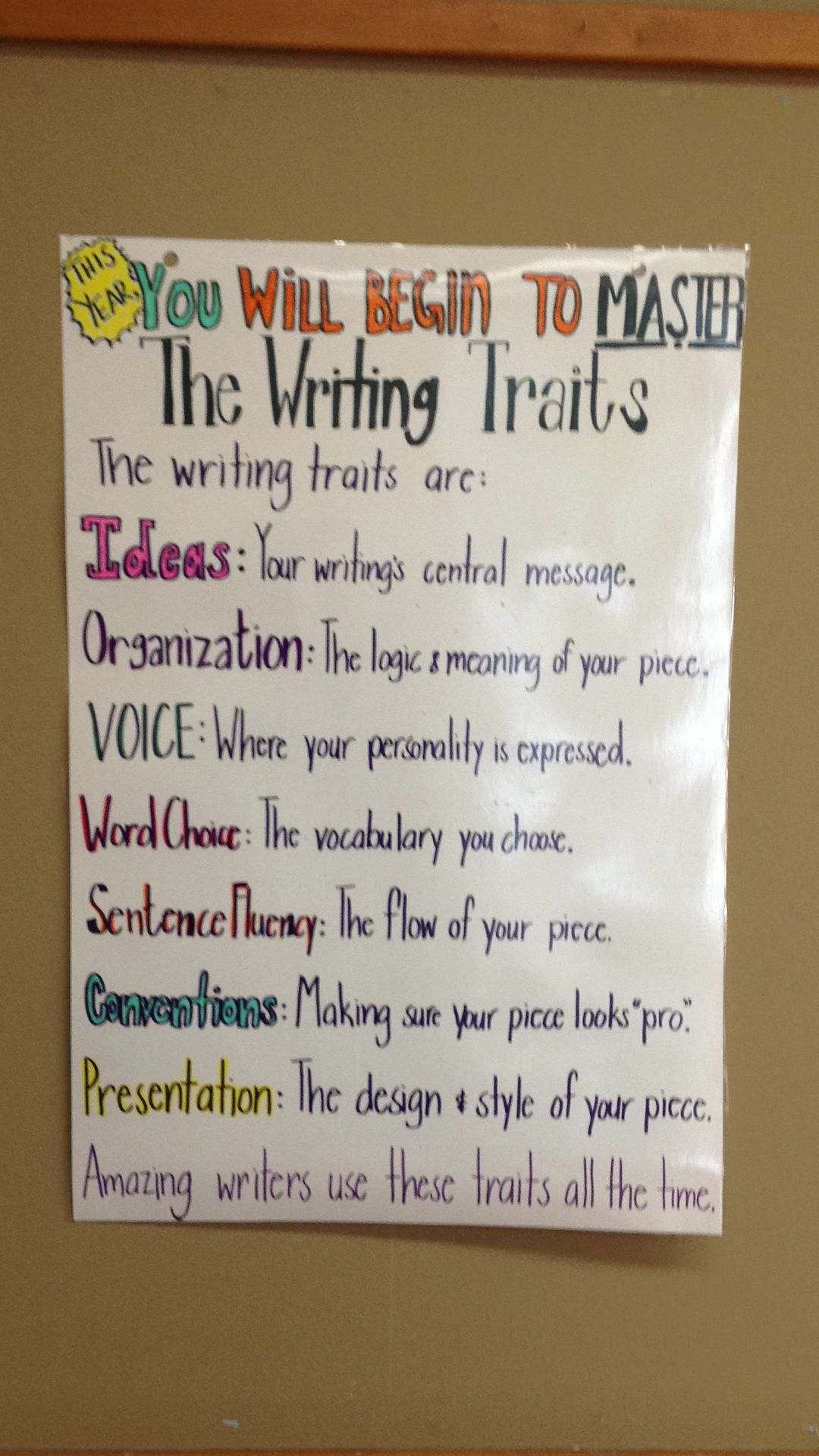 The 6 Writing Traits Anchor Chart Writing Traits Writing Conventions Fifth Grade Writing [ 1920 x 1080 Pixel ]