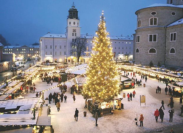 Salzburg Christmas Time.The Sound Of Music Is Alive In Austrian City Of Salzburg