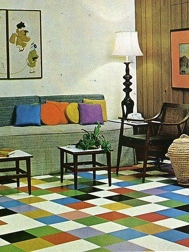 70S Living Room Home Decor From A Vintage Quelle Catalog. | The