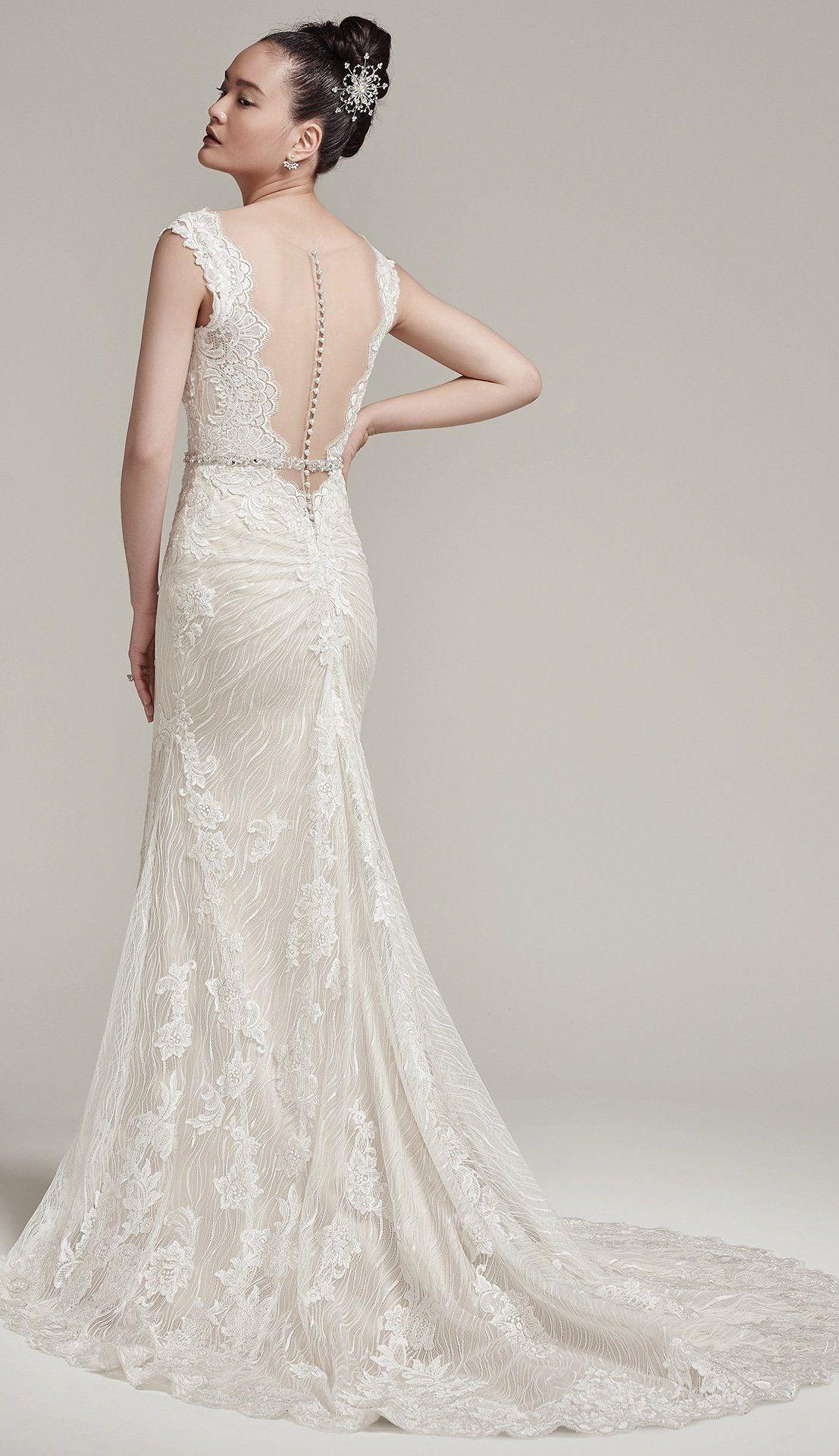 Maggie sottero wedding dresses pinterest illusion neckline