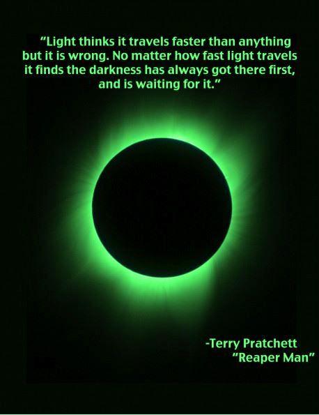 Darkness Terry Pratchett Quote Criminal Minds Quotes Terry Pratchett