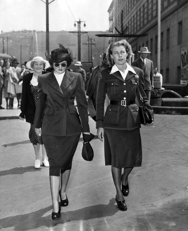 Hollywood Madam Brenda Allen And A Policewoman Walking Outside The