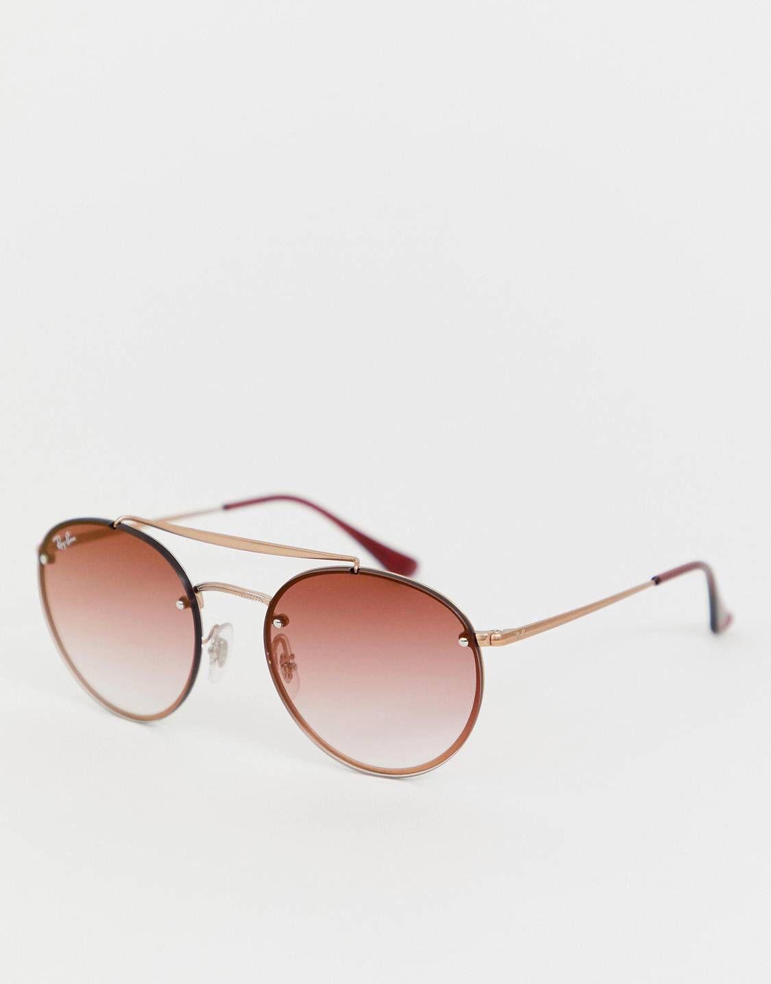 93dfd96469 Ray-Ban 0RB3614N Blaze round sunglasses i 2019