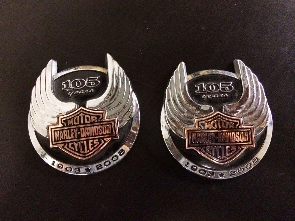 Harley Davidson 105th Anniversary Tank Badges Emblems