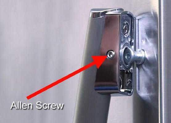 How To Fix A Refrigerator Freezer Door Handle That Is Loose Or Needs Replacement Door Handles Frigidaire Refrigerator Refrigerator Freezer