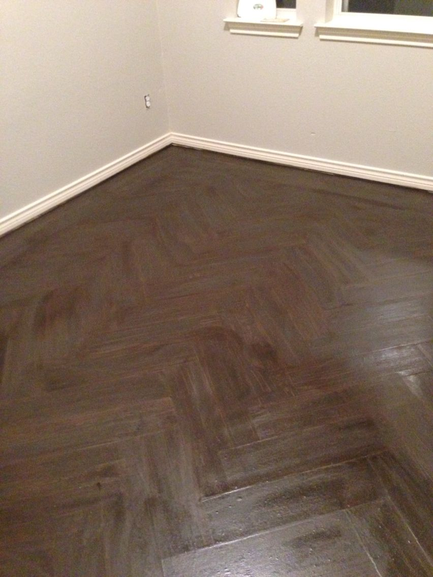 Faux chevron wood panel floor. This is a 'paper bag' floor. | Fab ...