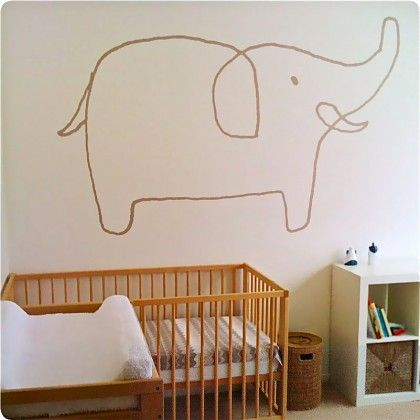 jane reiseger sophie the elephant from the wall sticker company
