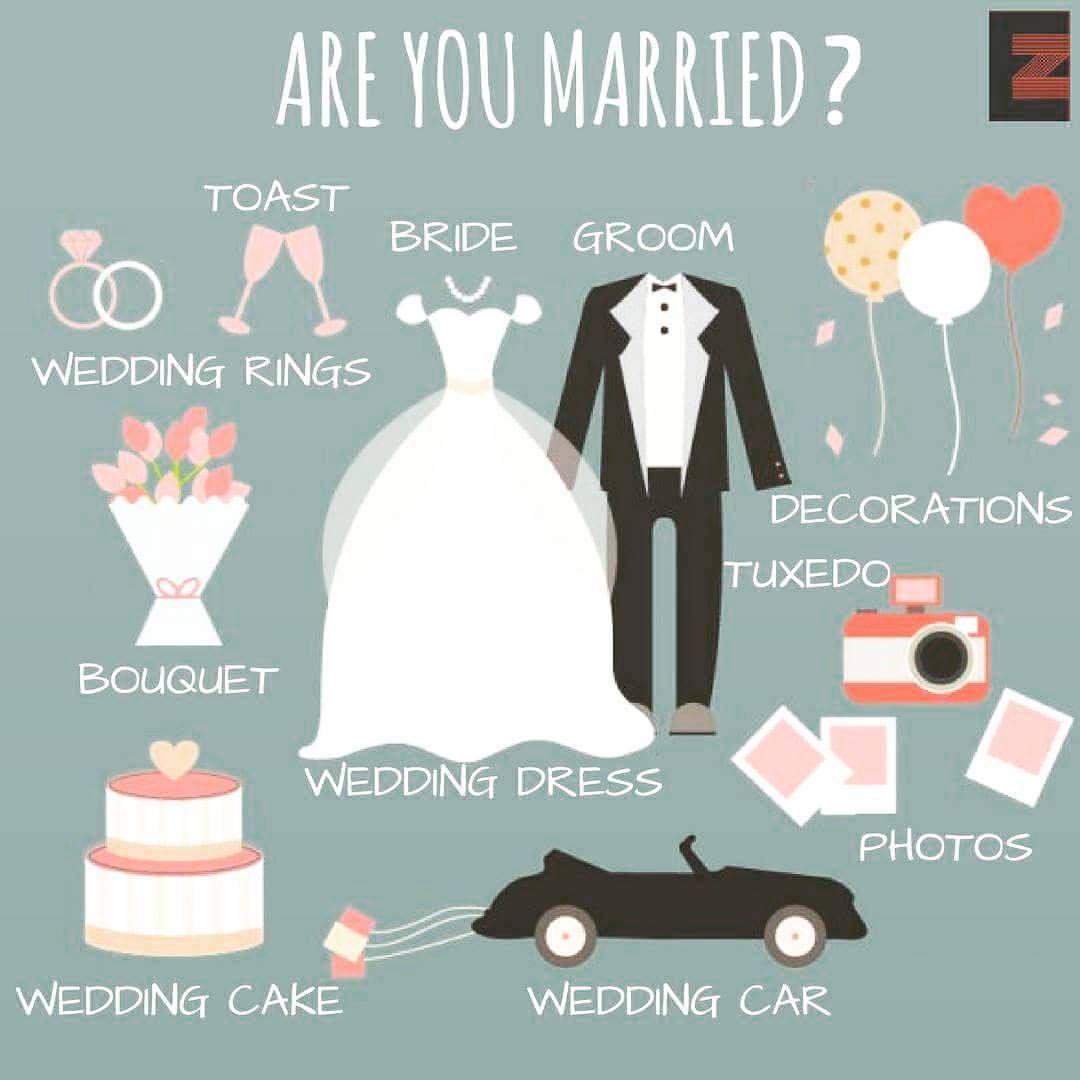Wedding Vocabulary | Inglés | Pinterest | Learning english, English ...