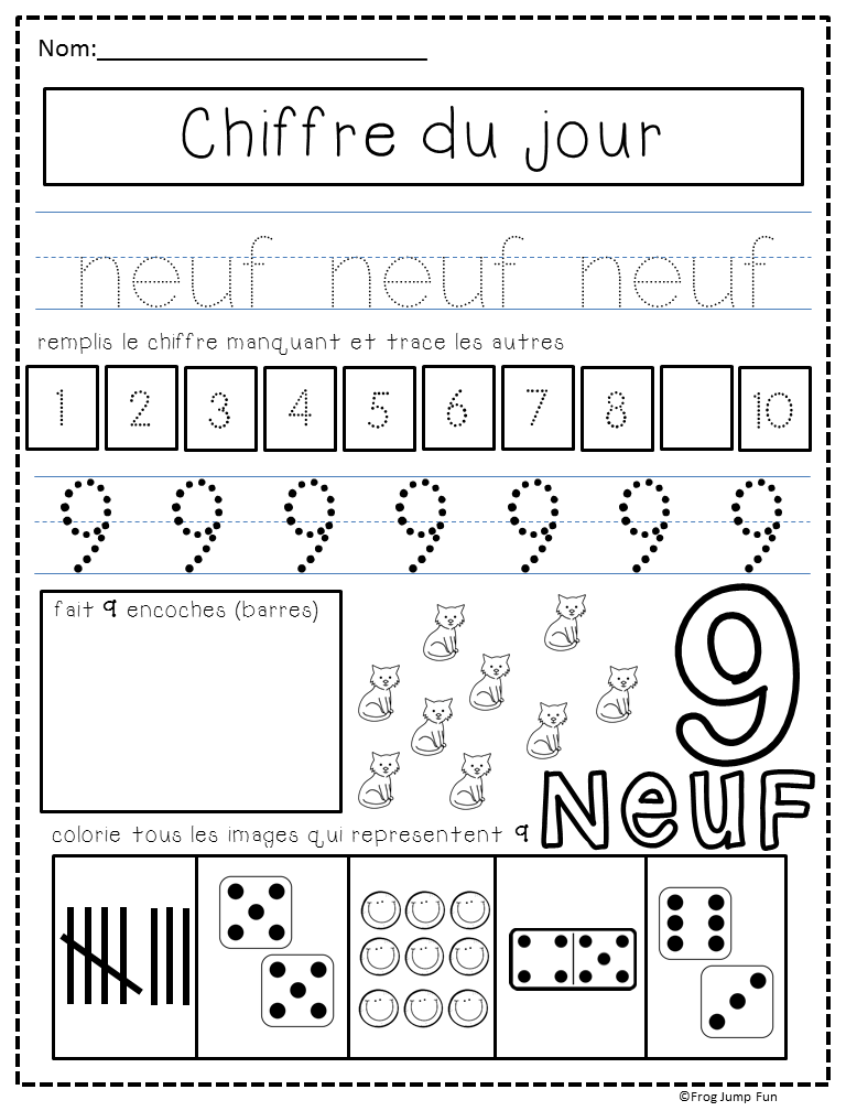 chiffre du jour french number of the day pack les mots numbers kindergarten teaching. Black Bedroom Furniture Sets. Home Design Ideas