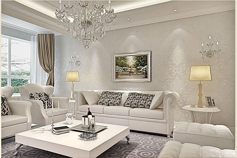 Room · silver living room wallpaper ideas