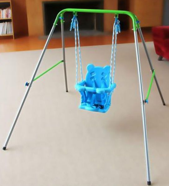 Indoor Outdoor Portable Baby Toddler Swing Set Kid Child Safety