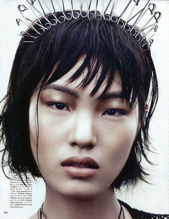 "Safety pin crown. ""The Destiny of Punk"" - model Chiharu Okunugi by David Slijper for Vogue Japan November 2013"