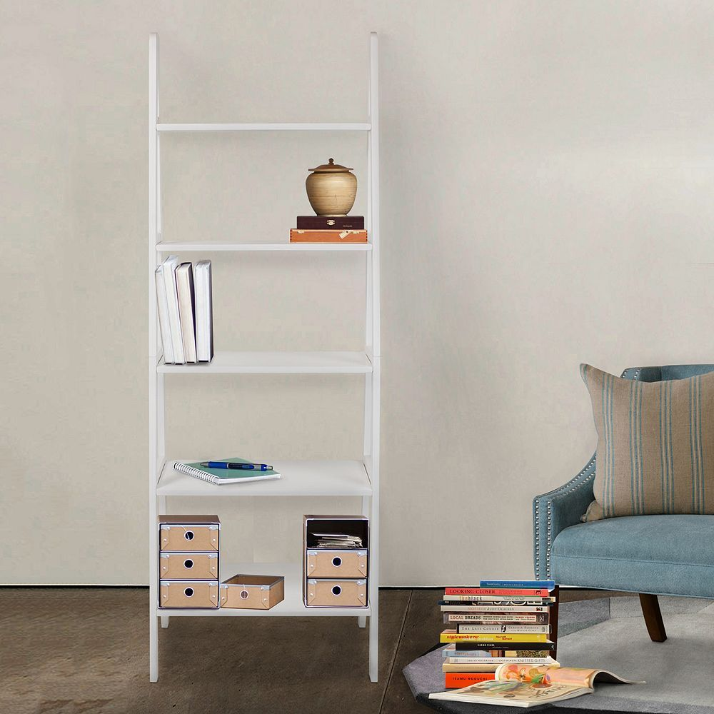 Casual home shelf ladder bookcase brown ladder bookcase and