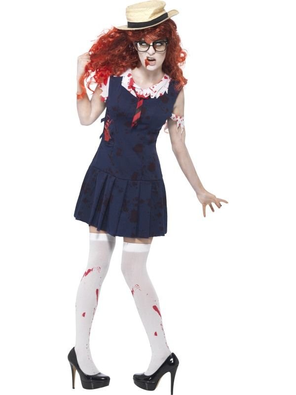 Zombie College Student Costume Online Joke Shop Halloween Fancy Dress Fancy Dress Halloween Costumes Zombie School Girl