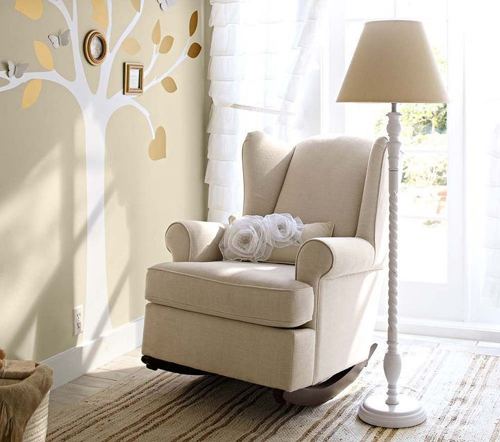 Wing back rocker from pottery barn kids would fit want in white natural floor shade twisted floor base near the glider wing back rocker from pottery barn kids aloadofball Choice Image