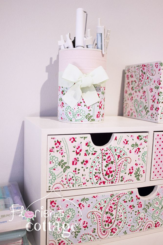 schubladenelement von buttinette selbst verziert stoff rosali paisley von cath kidston f r. Black Bedroom Furniture Sets. Home Design Ideas