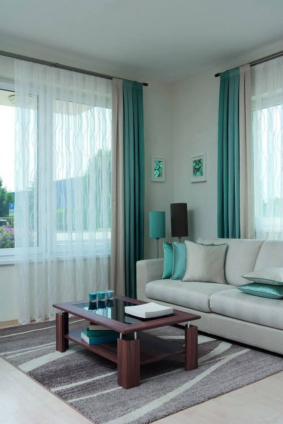 Cortinas modernas Living rooms, Room and House