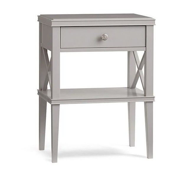 Pottery Barn Clara Lattice Wood Narrow Bedside Table ($299) ❤ Liked On  Polyvore Featuring Pictures
