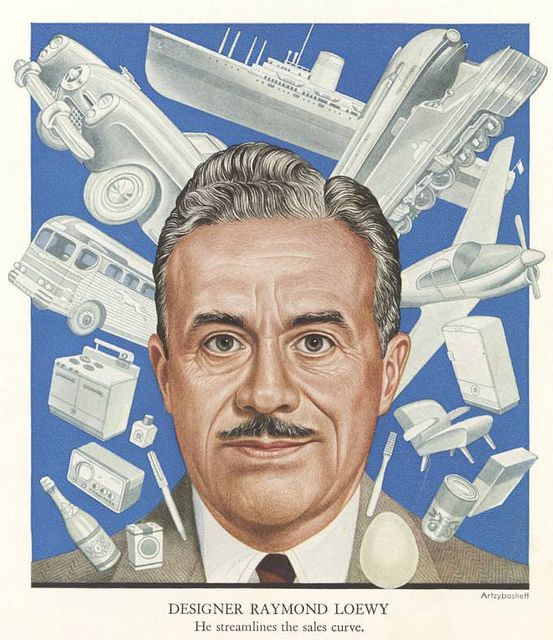 Industrial designer Raymond Loewy 1949 TIME cover art by Boris Artzybasheff