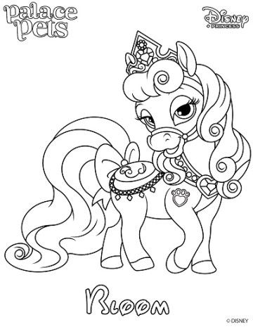 Princess Palace Pet Coloring Page Of Bloom Disney Princess