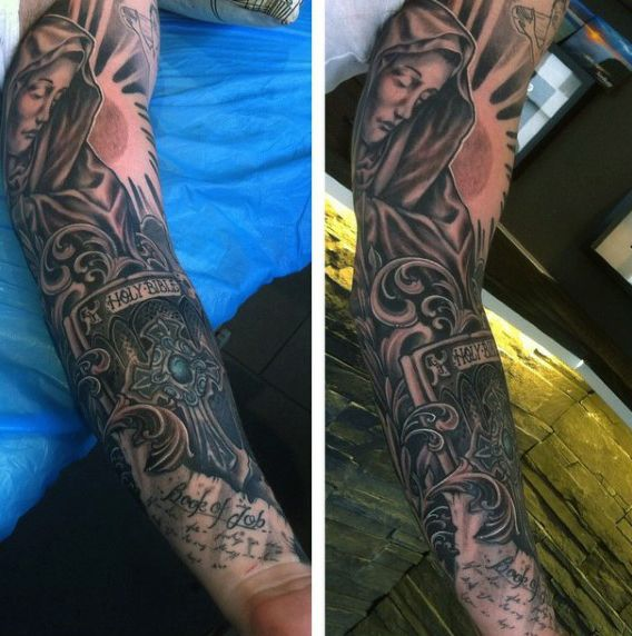 e574a14e2 100 Religious Tattoos For Men - Sacred Design Ideas | Tattoos ...