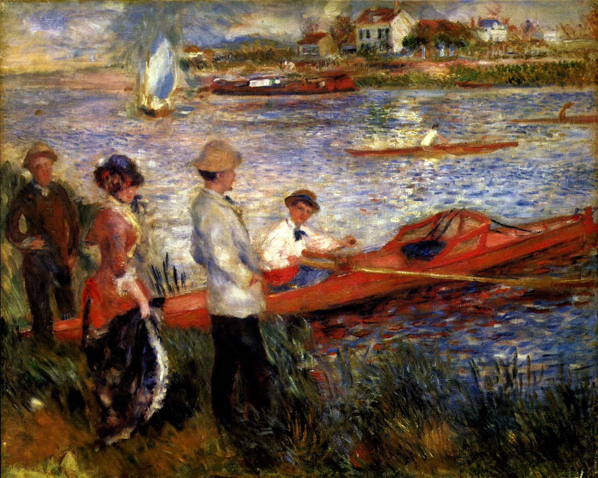 """Oarsman off Chateau"", by Renoir, 1841-1919"