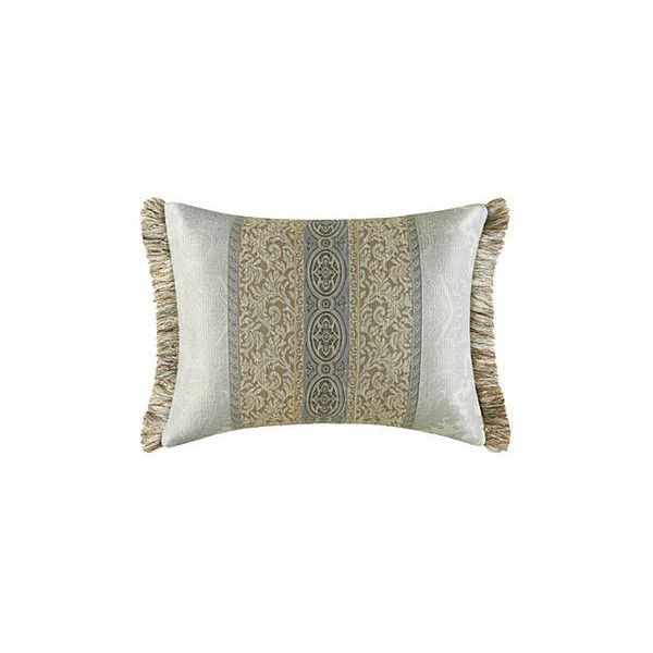 J Queen New York Tan Hemmingway Boudoir Pillow ($50) ❤ liked on Polyvore featuring home, bed & bath, bedding, bed pillows, tan, king size shams, king bed pillows, king sham, striped pillow shams and king size bed pillows