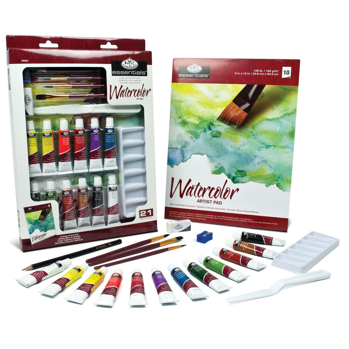 Royal Langnickel Essentials Art Set Watercolor Painting Art
