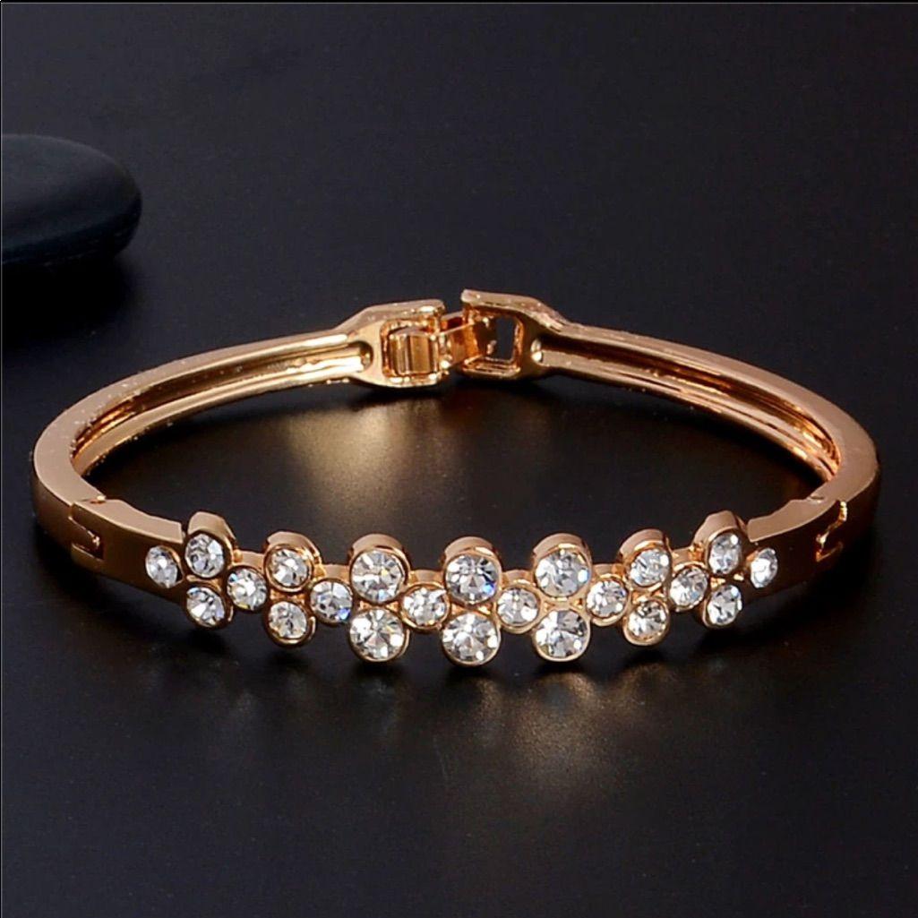 Ladies channel set crystal bracelet wishlist pinterest