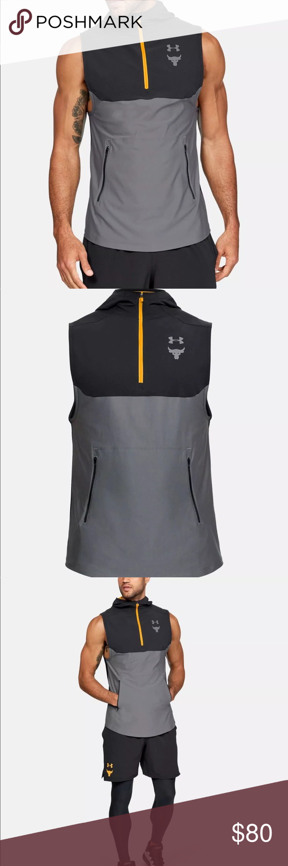 6df12ae1fb675 Under Armour Project Rock Vanish Sleeveless Hoodie Fitted  Next-to-skin  without the squeeze. ·UA Microthread technology in the fabric dries faster