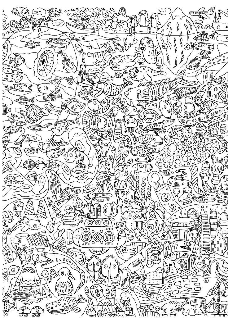 Free coloring page coloring-for-adults-13. 50? 100? In any case a ...