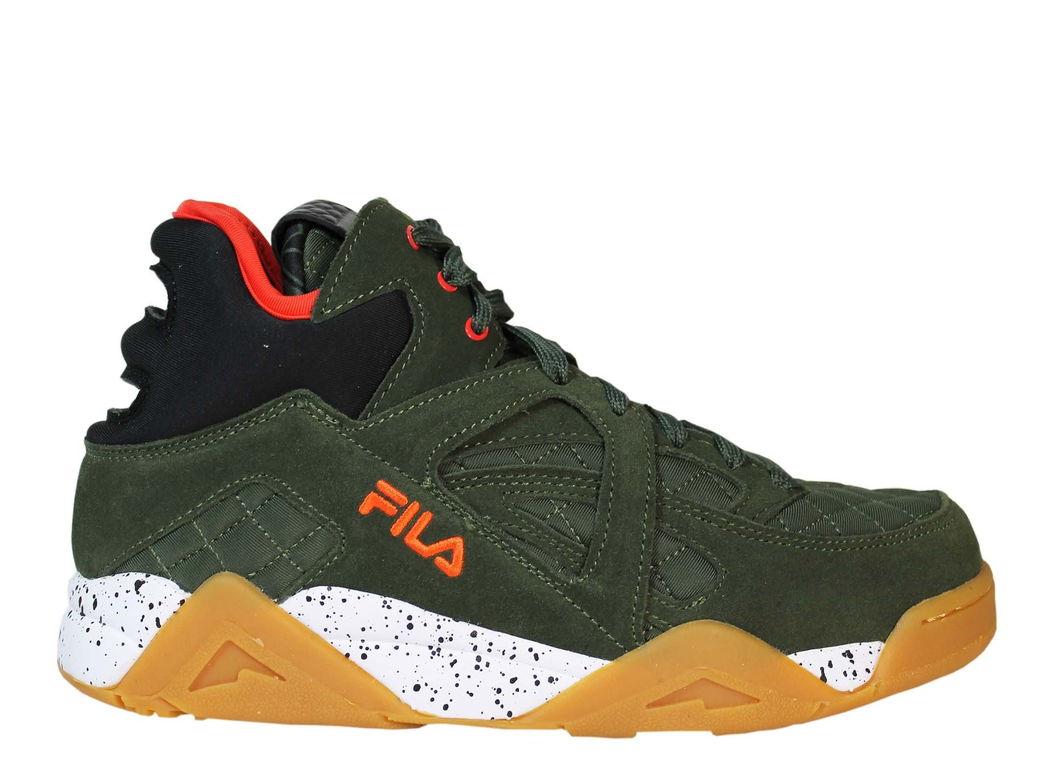 FILA IVY GREEN CAGE Q MID SNEAKERS. #fila #shoes # | Green