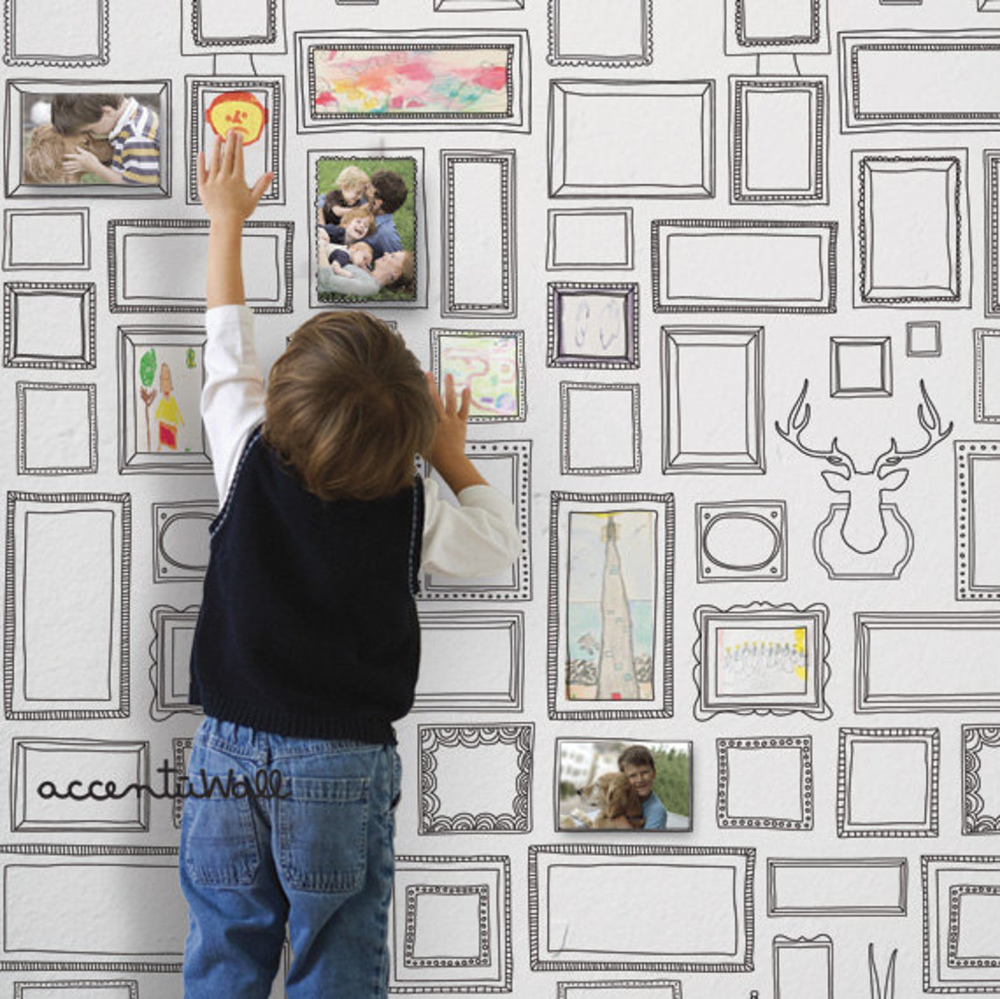 Frames Peel Stick Fabric Wallpaper Repositionable Etsy Framed Wallpaper Fabric Wallpaper Removable Wallpaper