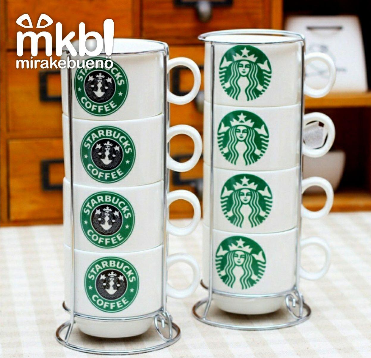 Set de tazas #starbucks apilables  Muy practicas ya que ocupan poco espacio al poder apilarlas; ideales para tenerlas siempre a mano e invitar un exquisito cafecitooo!