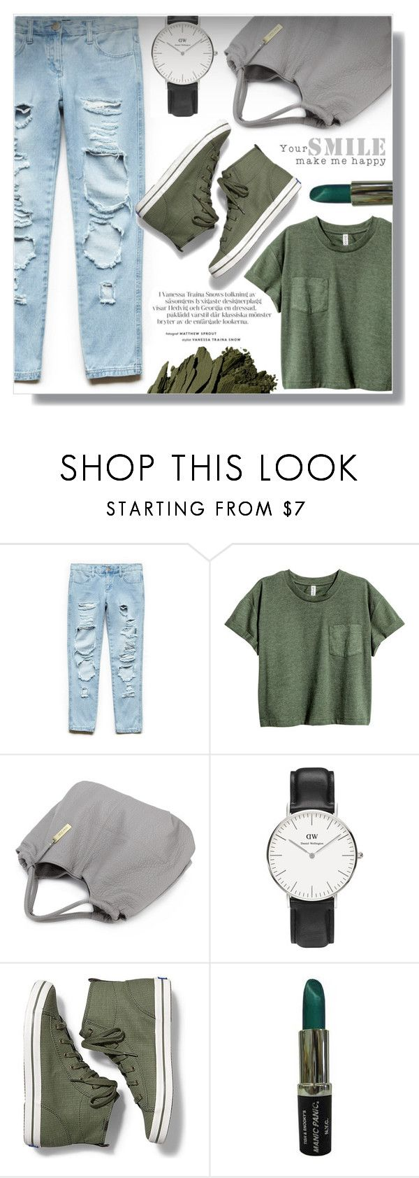 """""""Untitled #1168"""" by fashion-pol ❤ liked on Polyvore featuring Forever 21, Daniel Wellington, Keds and Bobbi Brown Cosmetics"""