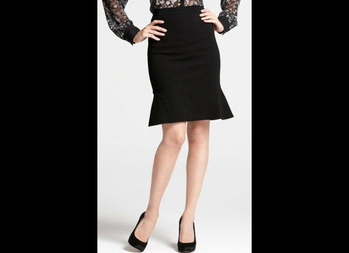 Ann Taylor Ponte Flounce Skirt, $88