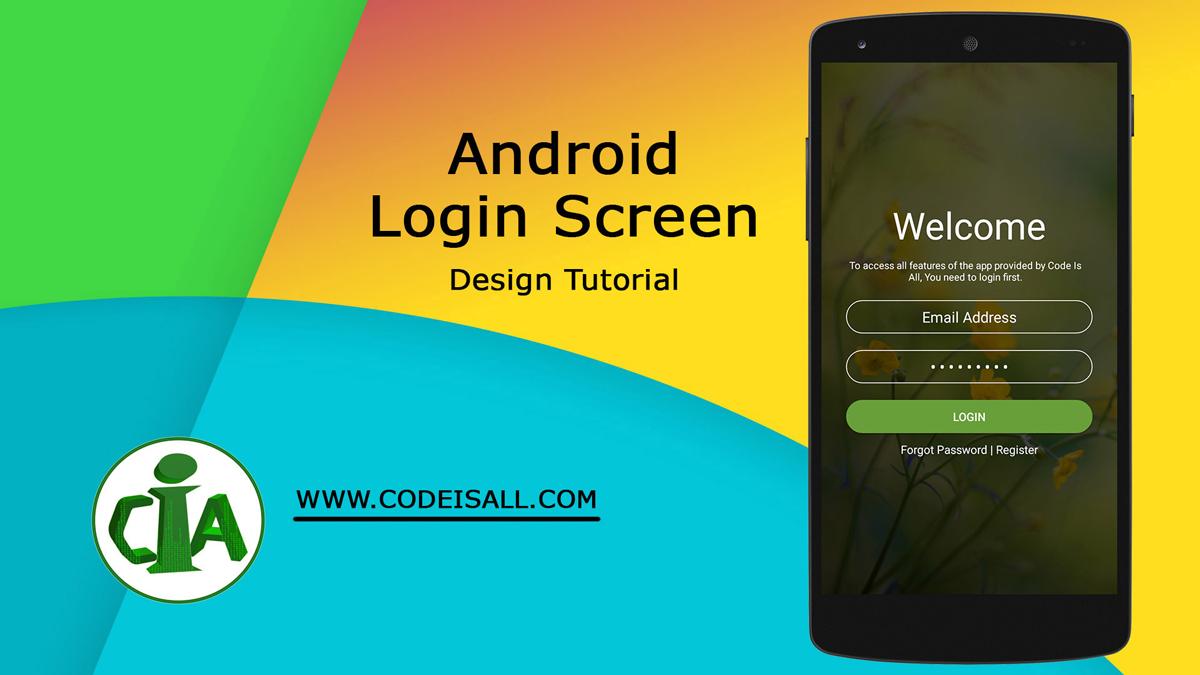 Android login screen design source code