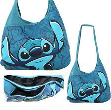 Lilo & Stitch Blue Pose Sketch FRONT POCKET Hobo Bag Beach Tote ...