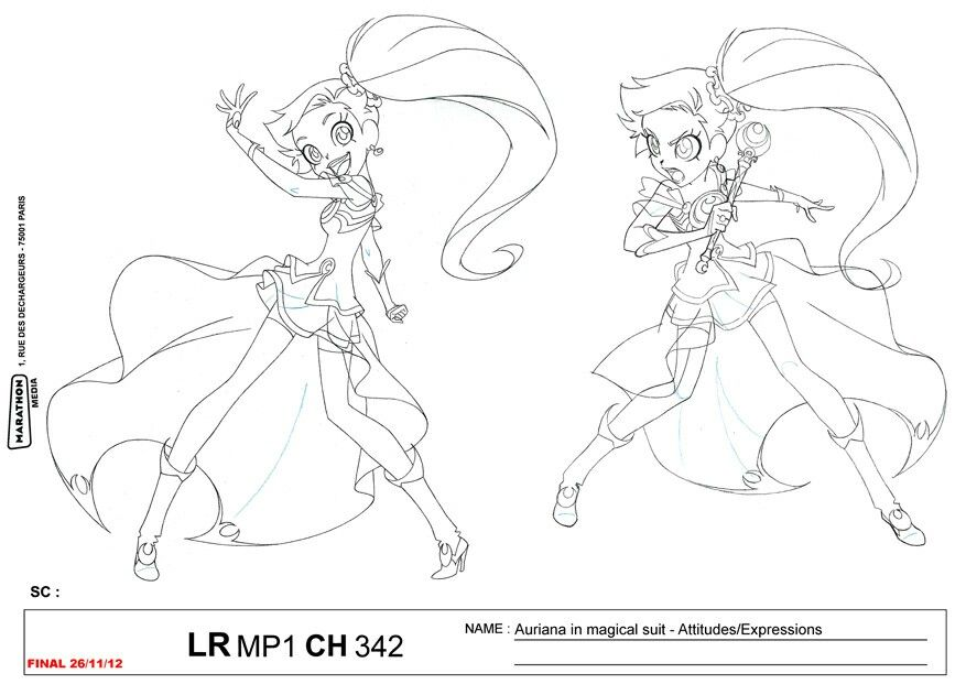 Lolirock Auriana Coloring Page Coloring Pages
