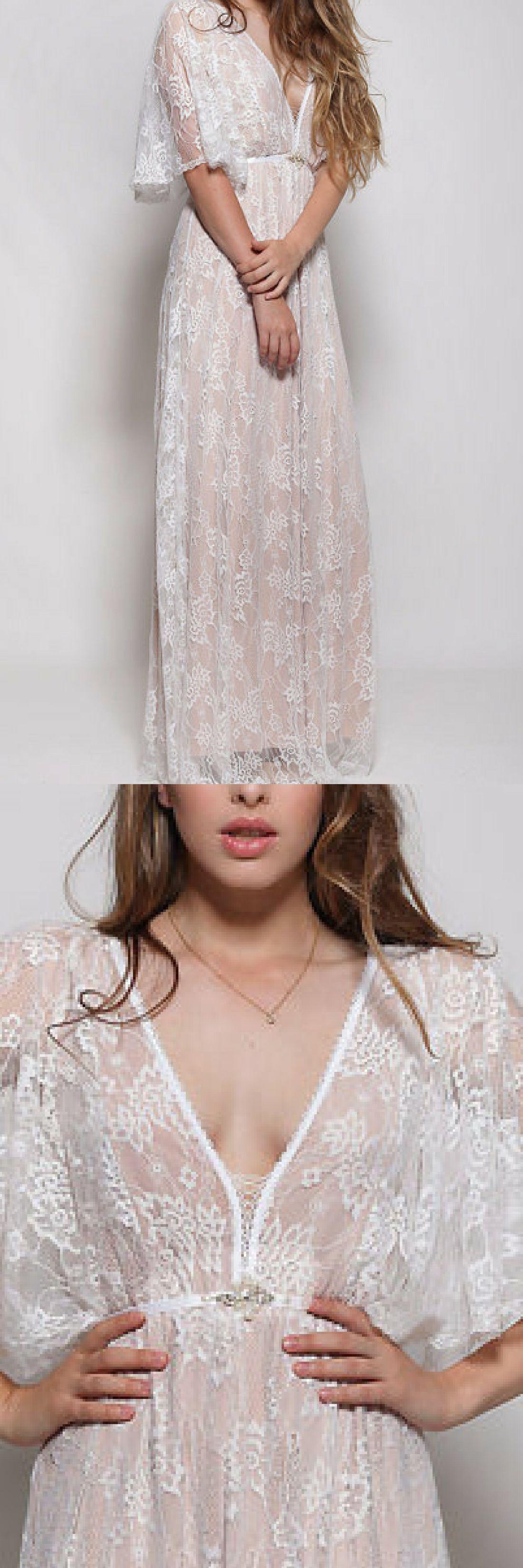 Lace wedding dress this amazing broken white bohemian wedding lace