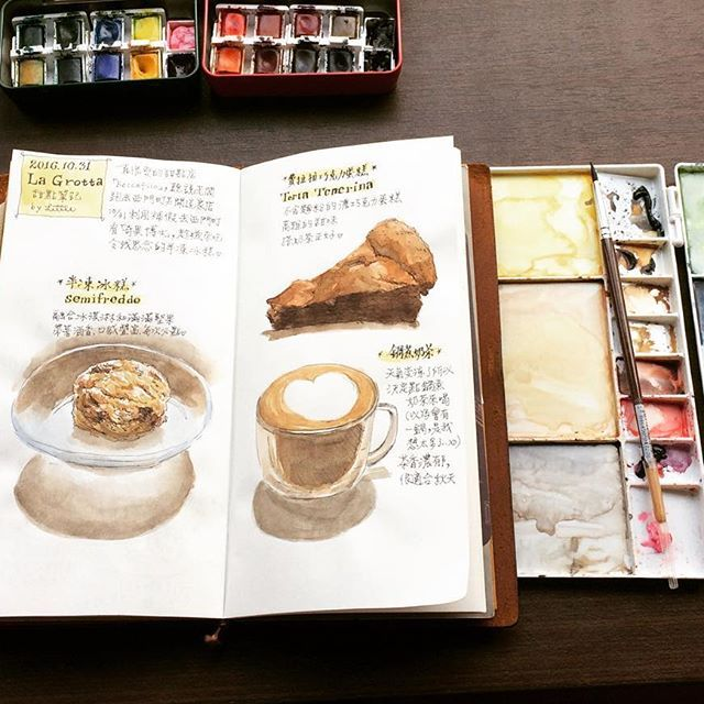 #travelersnotebook #travelersnote #illustratedjournal #travelerscompany #midoritravelersnotebook #mtn #watercolor #drawing #illustration #journal #artjournal #diary #イラスト #トラベラーズノート #手帳 #手絵 #插畫 #絵 #thedailywriting