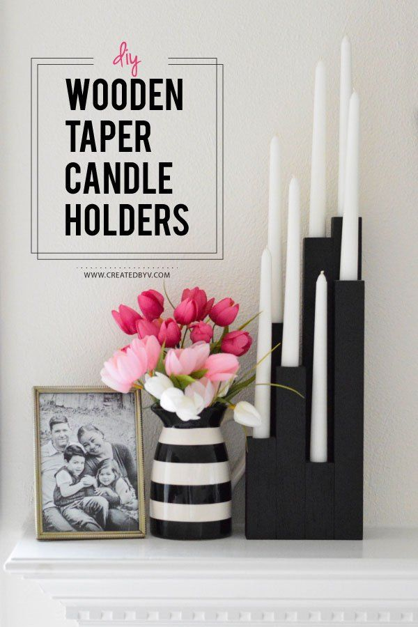DIY Wooden Taper Candle Holders is part of Wooden Home Accessories DIY Ideas - In fashion and decor, I tend to stick with classic designs that can be mixed and matched and retain some staying power  I also love to augment with things I mak…