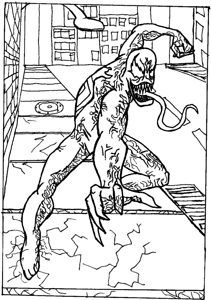 Free Printable Venom Coloring Pages For Kids | Spiderman ...