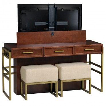 Phenomenal Bristol Desk Lift W Benches Tv Lift Cabinet Tv Lift Inzonedesignstudio Interior Chair Design Inzonedesignstudiocom