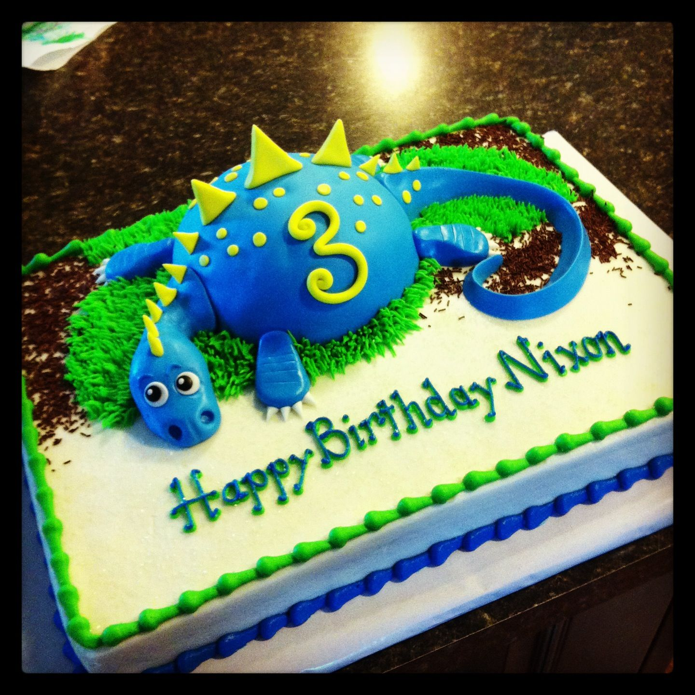 Blue dinosaur My Cakes Pinterest Dinosaurs and Blue