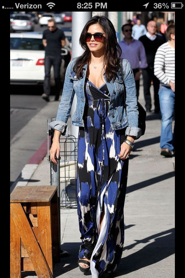 Maxi & denim jacket