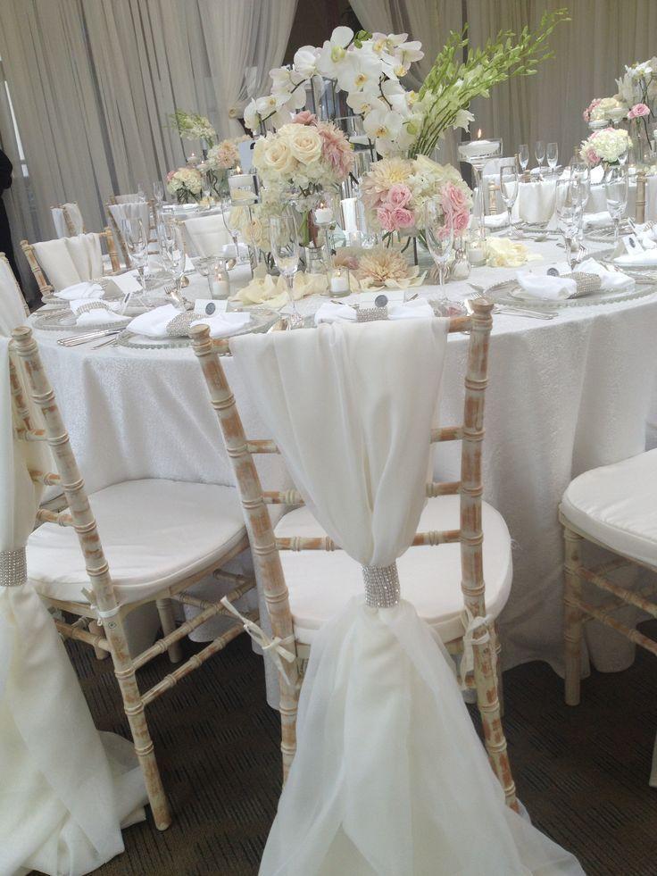 chivari reception decor | ... whites for reception decor. #sdweddingsbygina #weddingdecor #reception