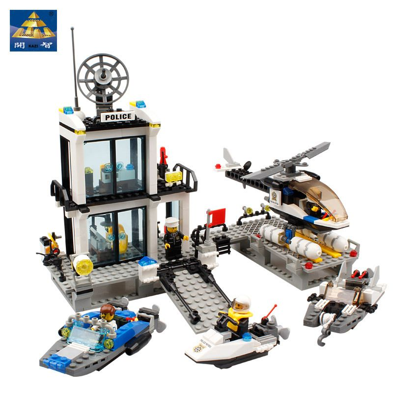 NEW Police Station Building Blocks Toys all brand city Toy Brinquedos