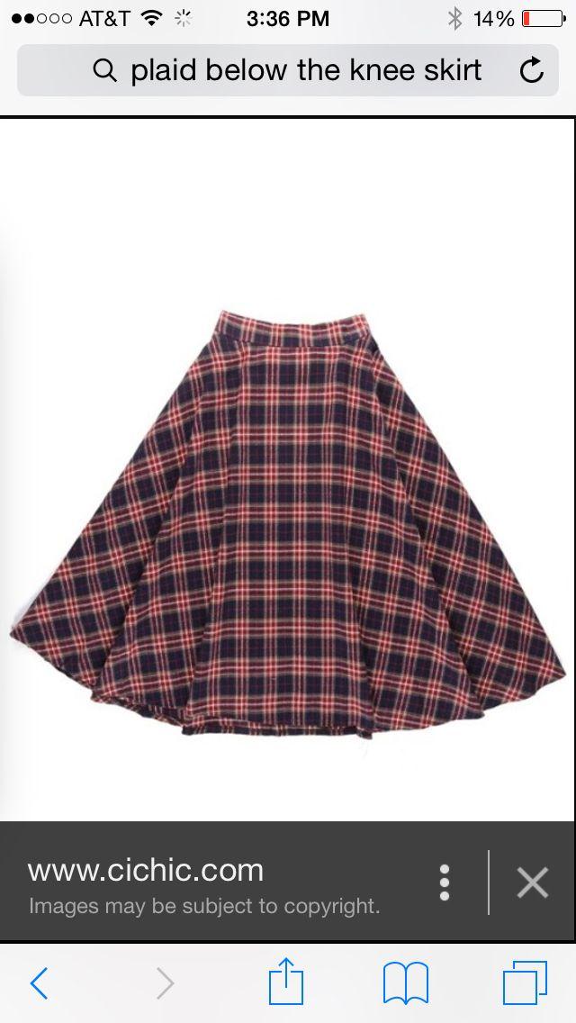 Cute plaid pleated skirt